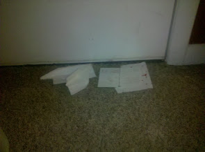 Photo: cards Kaleya made for Santa and left by the door