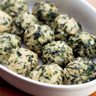 Chicken & Spinach Meatballs