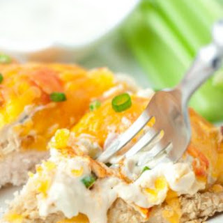 Healthy Tortilla Crusted Buffalo Chicken