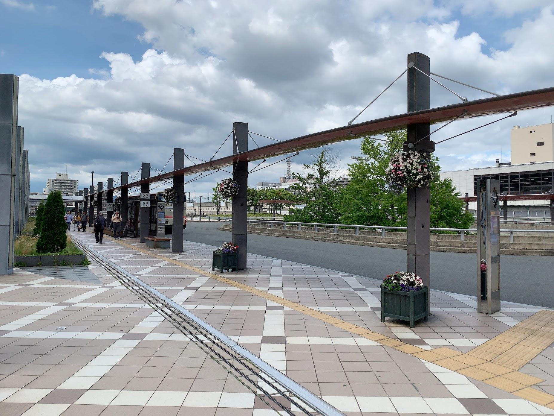盛岡駅西口バスターミナルを詳しく紹介