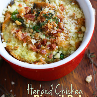 Gluten Free Easy Herbed Chicken and Biscuit Bake.