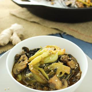 Easy Bok Choy and Mushroom Stir Fry