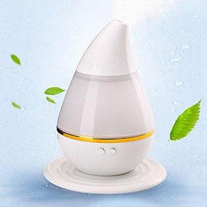 Umidificator si difuzor de arome, purificator ultrasonic, 250 ml, Alb