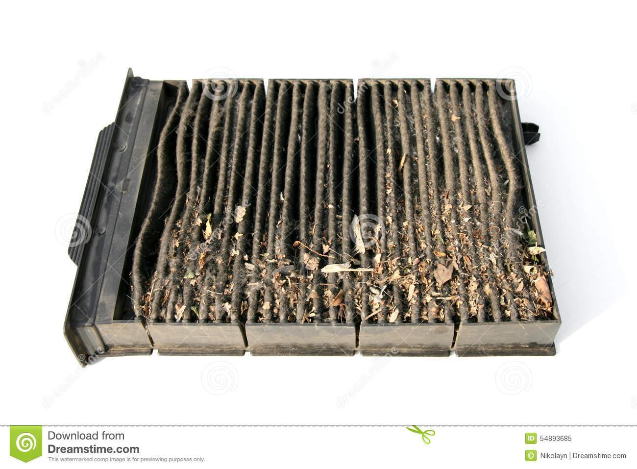 Resultado de imagen de filtro de aire acondicionado sucio auto