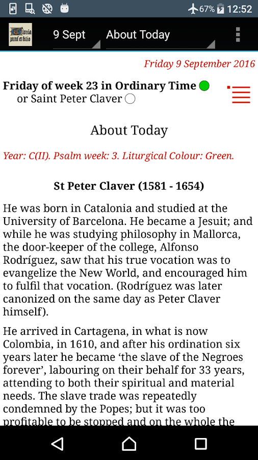 Catholic Calendar: Universalis- screenshot