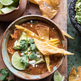 Slow Cooker Chipotle Chicken Tamale Chili.