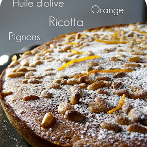 Orange Ricotta Tart with Pine Nuts
