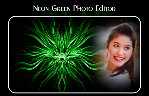 Neon Green Photo Editor - náhled