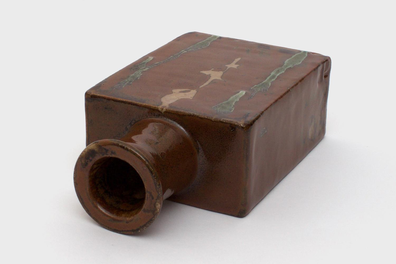 Jim Malone Ceramic Slab Sided Bottle 02