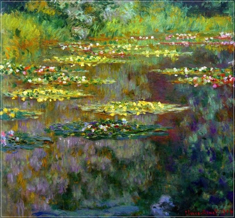 Lagoa de Monet, a lagoa onde a arte ganha vida