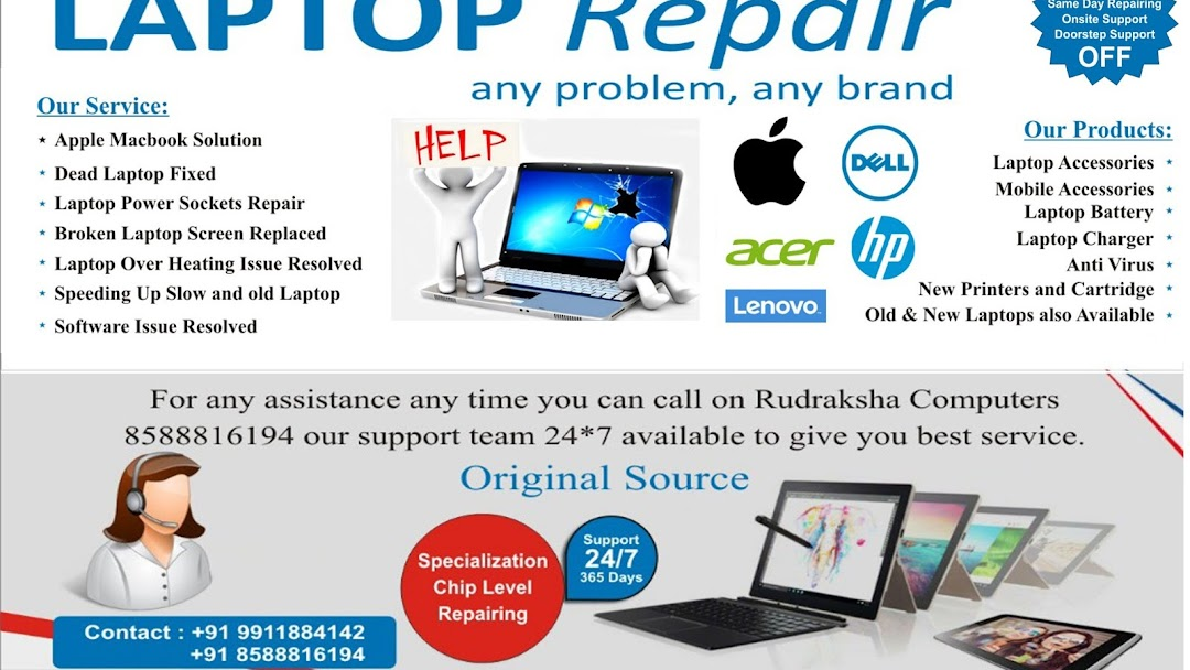 Rudraksha Computers - Complete Mobile Accessories & Laptop/Desktop