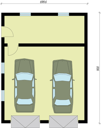 G1a 2 - Rzut garażu