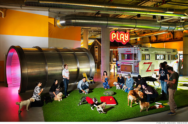 Wacky Offices, Beer Taps, Underground Meeting Rooms, Bahnhof, Sweden, Selgas Cano Architecture, Spain, Inventionland, USA, Comvert, Italy, Corus Quay, Canada, Couchsurfing, Etsy, Google, Ireland, Zynga, Tumblr