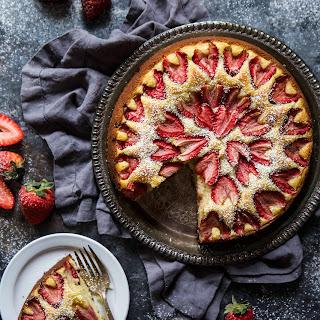 Roasted Strawberry Ricotta Cake.