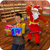 Santa Christmas Gift Escape Mission: Robbers Fight
