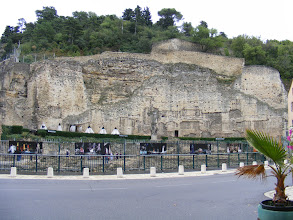 Photo: As we approach the famous Roman Theater, we find these remains of some of the town's ramparts. It's not clear whether these are Roman, or from a 17th century Dutch period for the town (before it became part of France in 1713).
