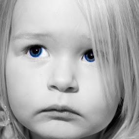 Thoughts by Steve Weston - Babies & Children Children Candids ( face, blackandwhite, girl, eyes )