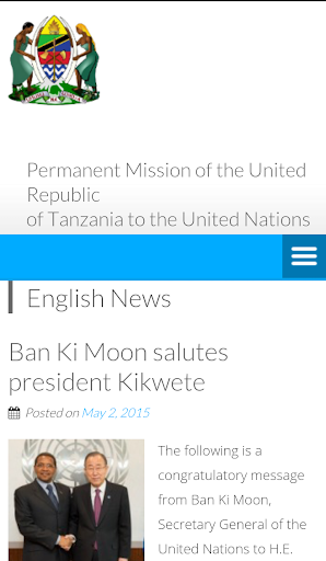 Tanzania Mission To the UN