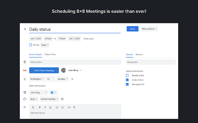 8x8 Work Meetings for Google Chrome