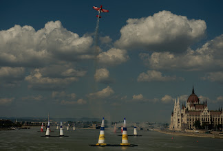Photo: German pilot Matthias Dolderer flies the course in a training session during the fourth round of the 2009 Red Bull Air Race World Championship  in Budapest, Hungary,  August  18, 2009. For further information go to www.redbullairrace.com . (Russell Cheyne/Red Bull Air Race via AP Images). FOR EDITORIAL USE ONLY