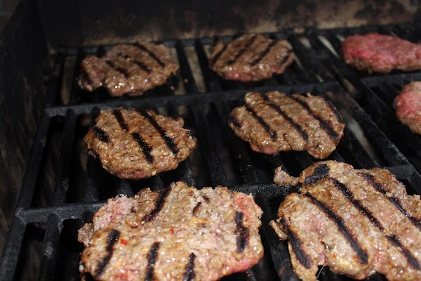 I grilled our burgers for 6-7 minutes on each side or until the pinkness...