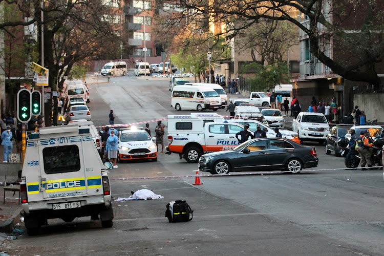 An off-duty officer from the Johannesburg Metro Police Department was shot and killed in Bruce Street, Hillbrow, Johannesburg on September 13 2018