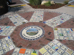 Photo: Medallion, Deco Tiles, Doner Tiles, Handpainted Tiles Commissioned by the City of Malibu, CA