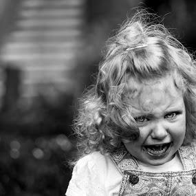 The tantrum  by Tracey Dobbs - Babies & Children Children Candids ( child, girl, black and white, candid, portrait )