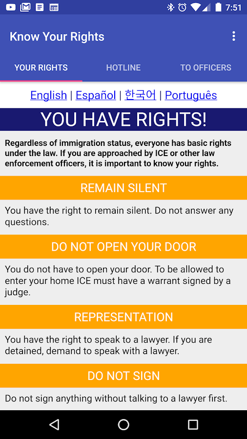 Know Your Rights- screenshot