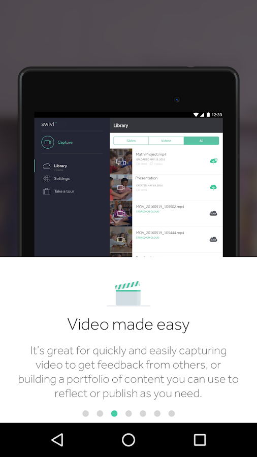 Swivl- screenshot