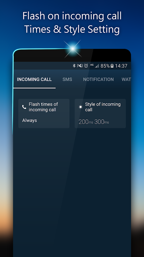 Flash Ring Call/SMS/Alert- screenshot