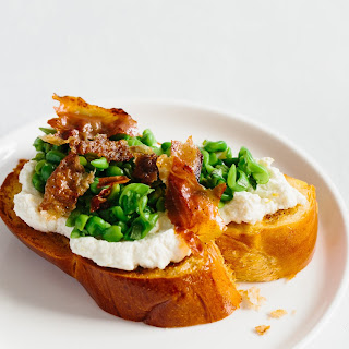 Ricotta and Fresh Pea Toast