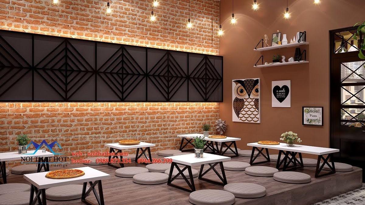 thiết kế cửa hàng pizza bau's 19