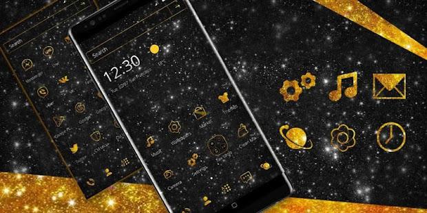 Glittering Black Gold Theme - náhled
