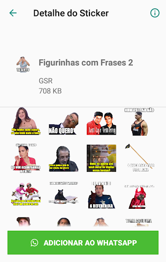 Super Pacote de Figurinhas - Sticker WastickerApps 2.5 screenshots 1