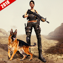 Front Line Female Commando FPS Action Game icon