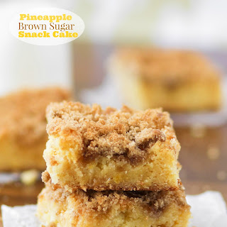 Pineapple Brown Sugar Snack Cake