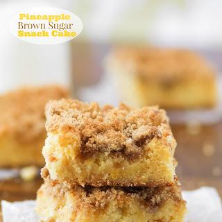 Pineapple Brown Sugar Snack Cake.
