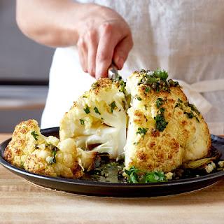 Easy Whole Roasted Cauliflower.