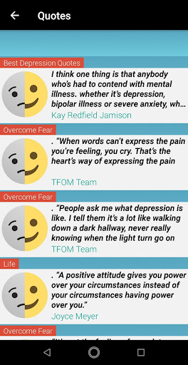 Depression Quotes In English Overcome Sadness App Report On Mobile