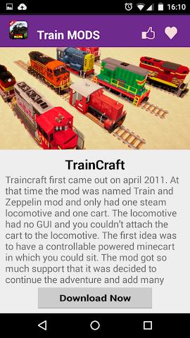 android Train Mod For MCPE. Screenshot 2