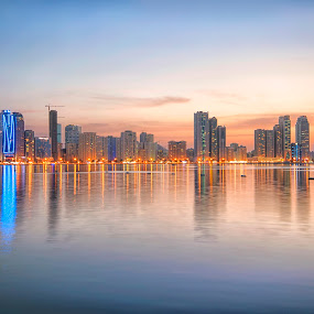 Al Madjaz Park by Ricky Pagador - City,  Street & Park  Skylines ( cityscapes, skyline, skylines, cityscape )