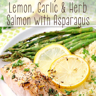 Sheet Pan Lemon, Garlic & Herb Salmon with Asparagus