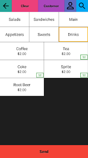 Restaurant Point of Sale | Cash Register - W&O POS Screenshot