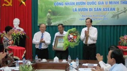 U Minh Thượng trở thành Di sản ASEAN