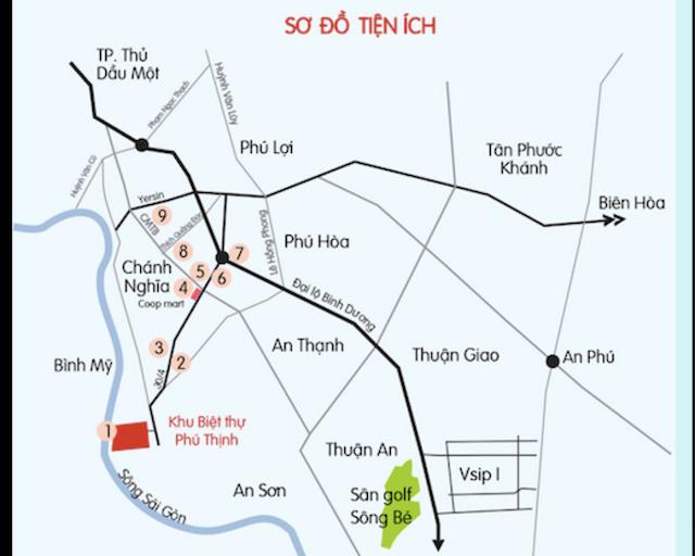 Dự án C River View Bình Dương nằm ngay cạnh Cầu Bà Lụa