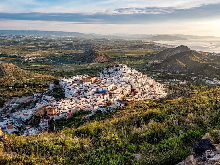 Mojácar, vista aérea de la ciudad.