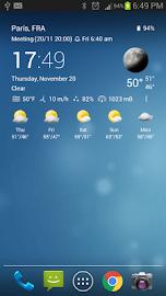 Transparent clock & weather Screenshot 9