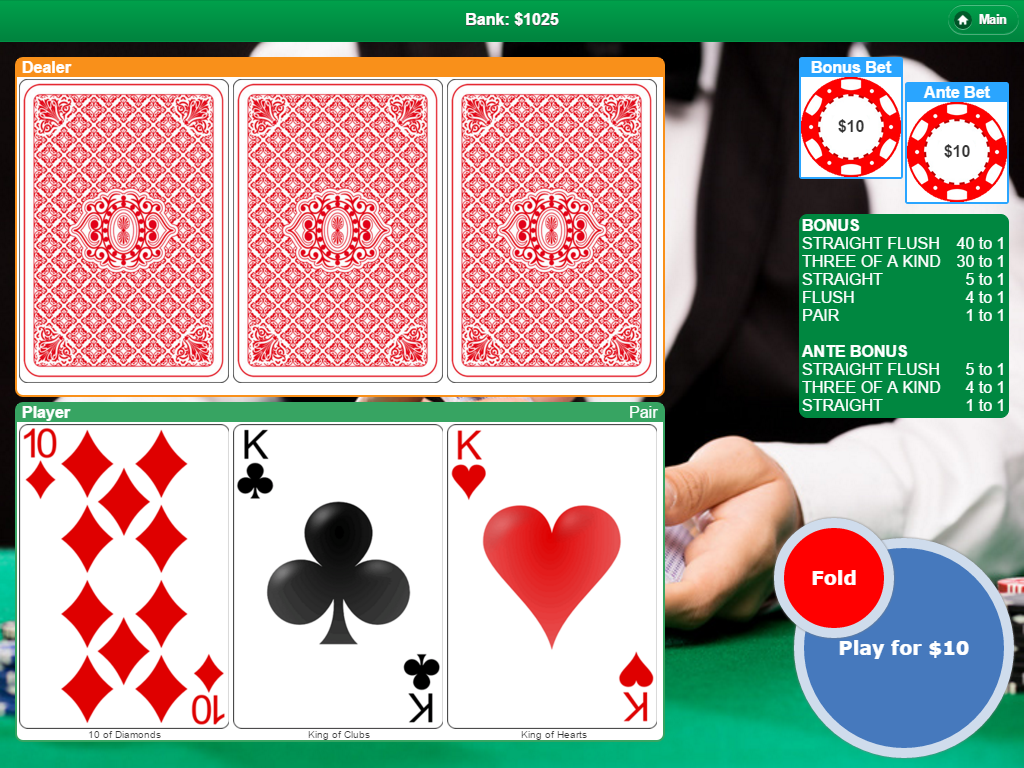 Poker with 3 Cards- screenshot