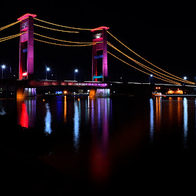 Ampera Bridge by Zaddam Hussein H.R - Buildings & Architecture Bridges & Suspended Structures ( landmark, badploi, ampera, palembang, indonesia, travel, bridge )